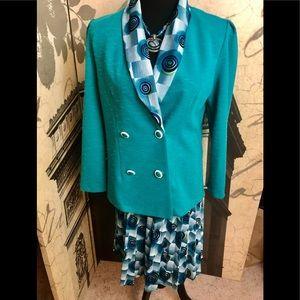 Fun vintage skirt suit by Sweetbriar size 10